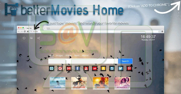 BetterMovies Home (Adware)