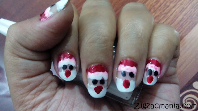 Santa (Christmas) Inspired Nail Art