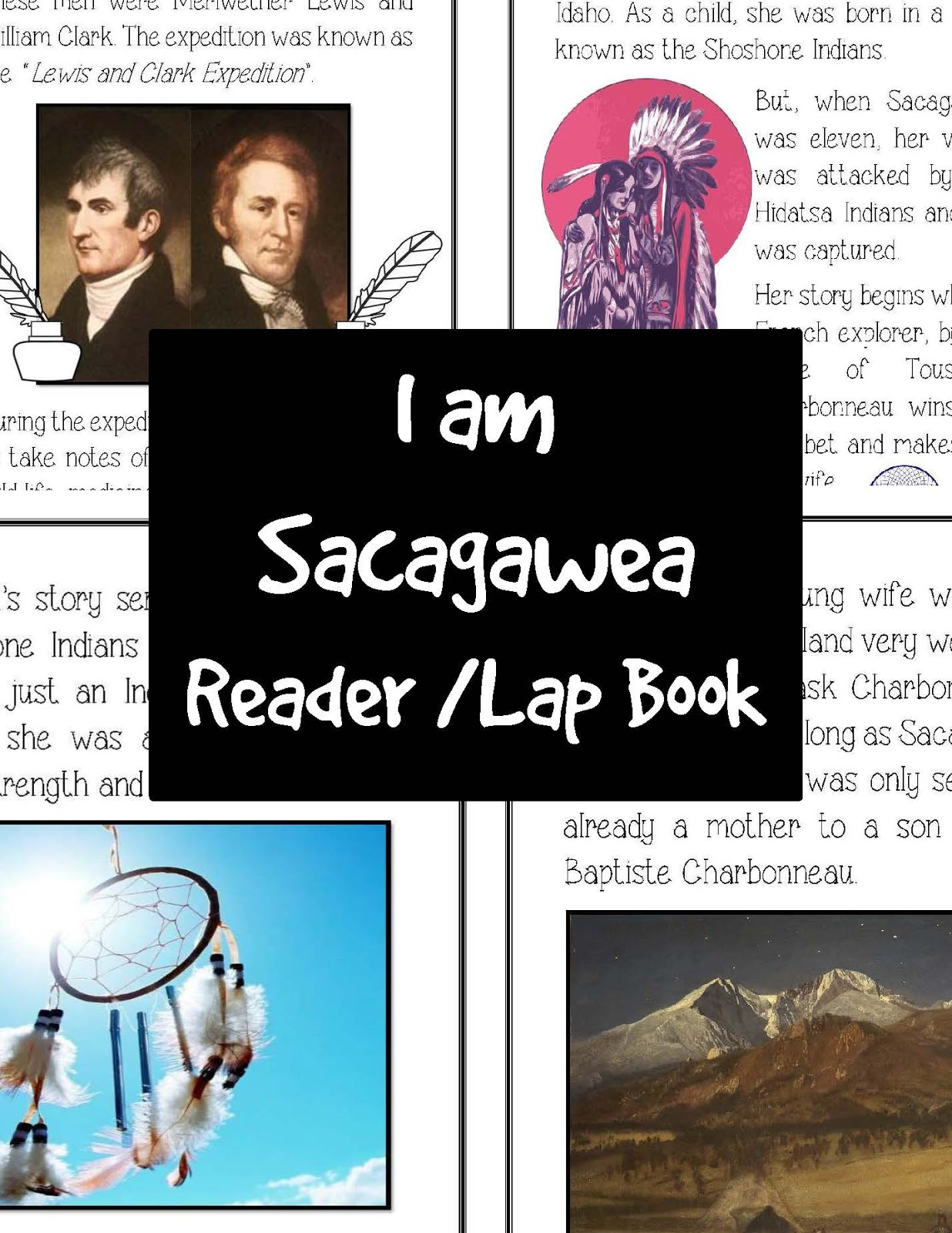 The Hermit Crabs Homeschool Sacagawea Lap Book And Reader