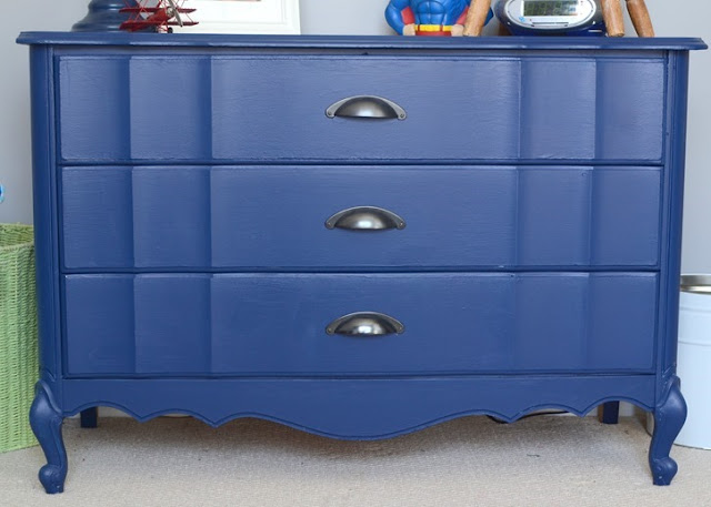 big navy blue dresser
