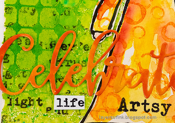 Layers of ink - Celebrate Life Tag by Anna-Karin Evaldsson.
