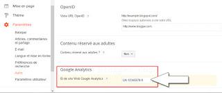 Prise en charge de Universal Google Analytics sur les blogs Blogger