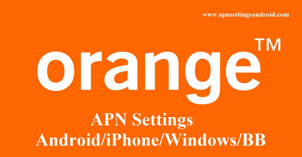 Orange Belgium APN Settings for Android