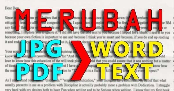 2 Cara Merubah File JPG Hasil Scan Ke Word - GRAFIS - MEDIA
