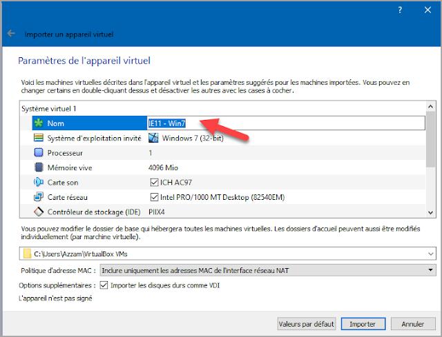 télécharger, utiliser, installer, importer, machine virtuelle, Microsoft, Windows 7, Windows 8.1, Windows 10, VirtualBox, Tester