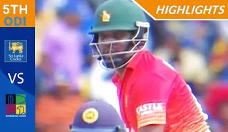 Cricket Highlights - Sri Lanka vs Zimbabwe 5th ODI 2017