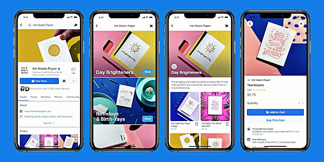 فايس بوك تطلق خدمة Shops لانشاء متاجر الكترونية عبر منصاتها
