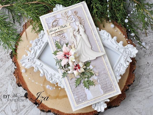 Kartka na ślub w zimie