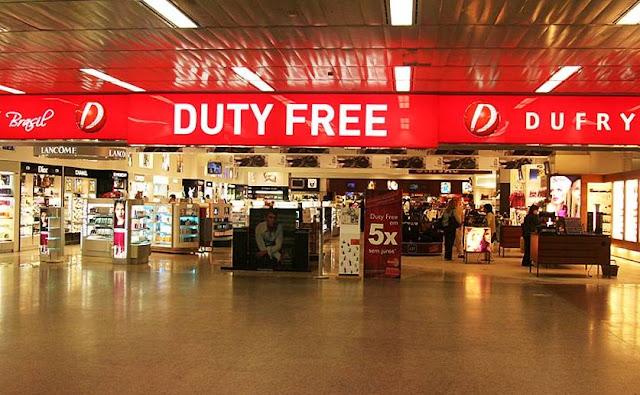 Aumentou o limite de isenção nas compras em free shops