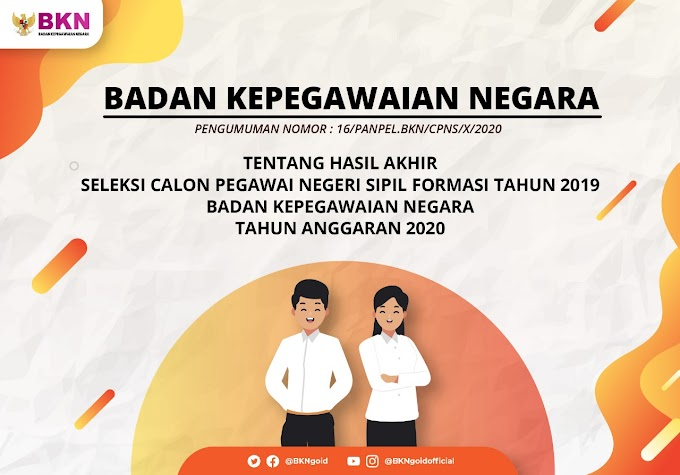 HASIL AKHIR SELEKSI CPNS FORMASI TAHUN 2019 BKN TA 2020