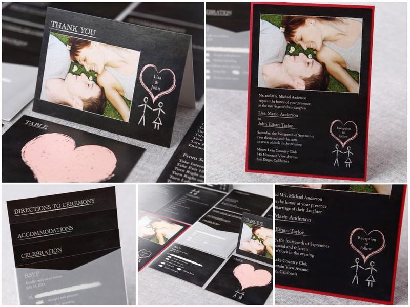 Sweet Romance By B Wedding Invitations