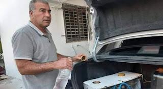 علي نابلسي من عرابة  يخترع جهازاً يجعل محرك السيارة يعمل بالماء