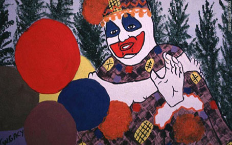 John Wayne Gacy clown serial-killer autoportrait