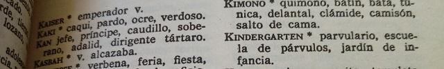 Palabras que empiezan por K