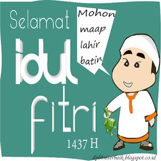 DP BBM Selamat Hari Raya Idul Fitri 1437 H terbaru Sincan Lucu Imut