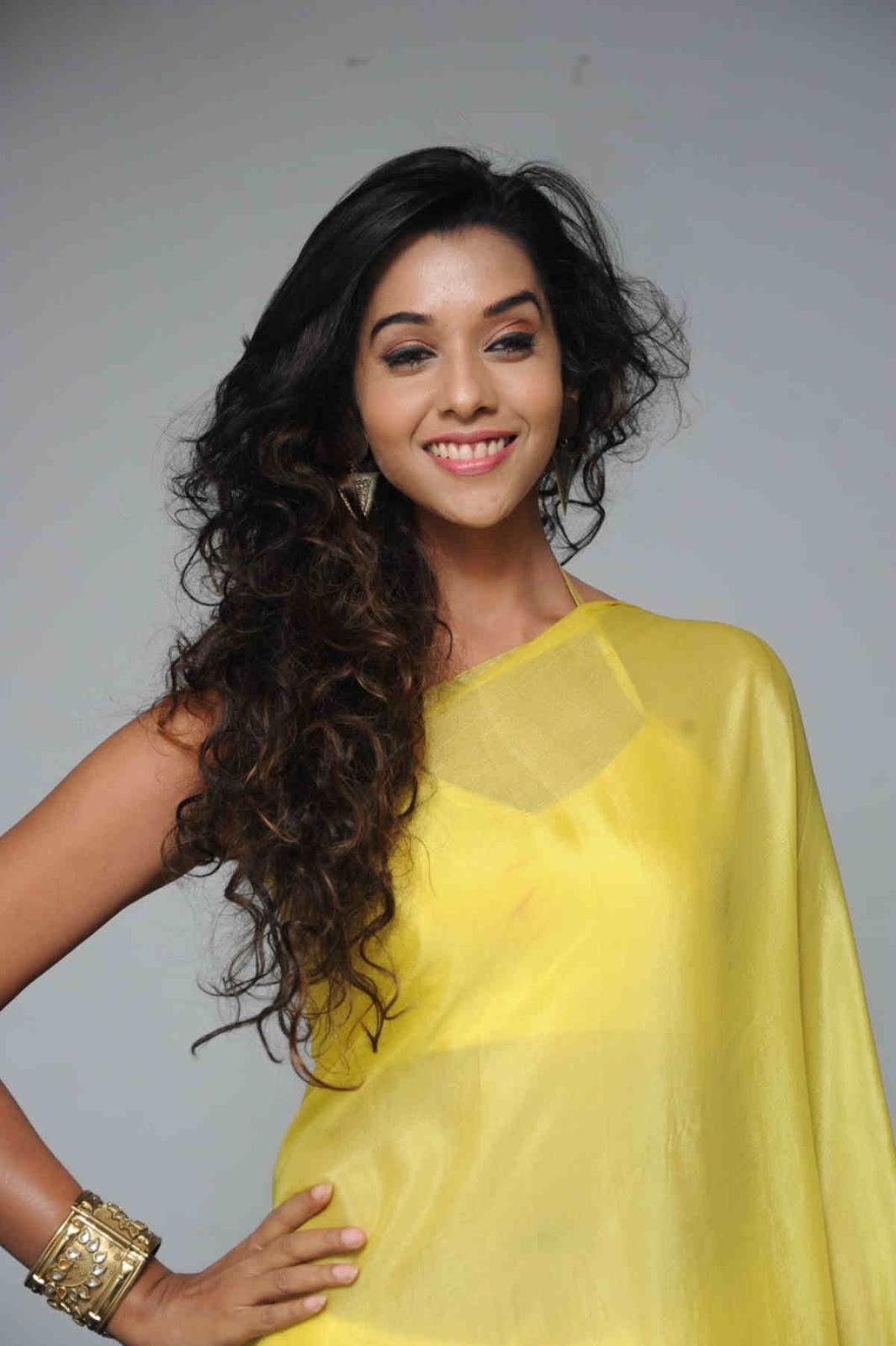 Anupriya In Yellow Saree At Telugu Movie Audio Function