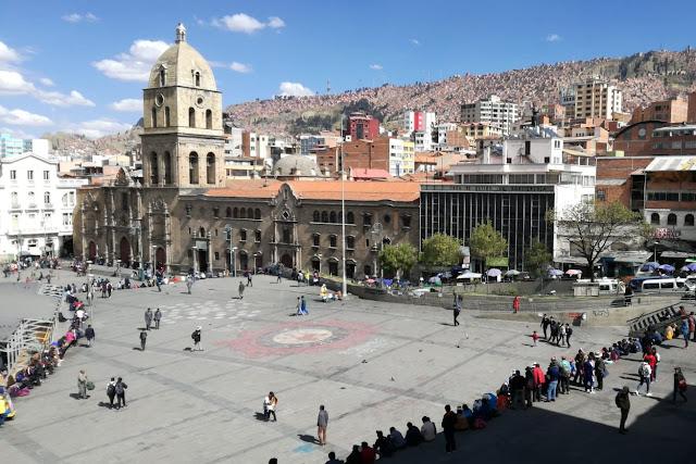 Plaza San Francisco a La Paz, Bolivia