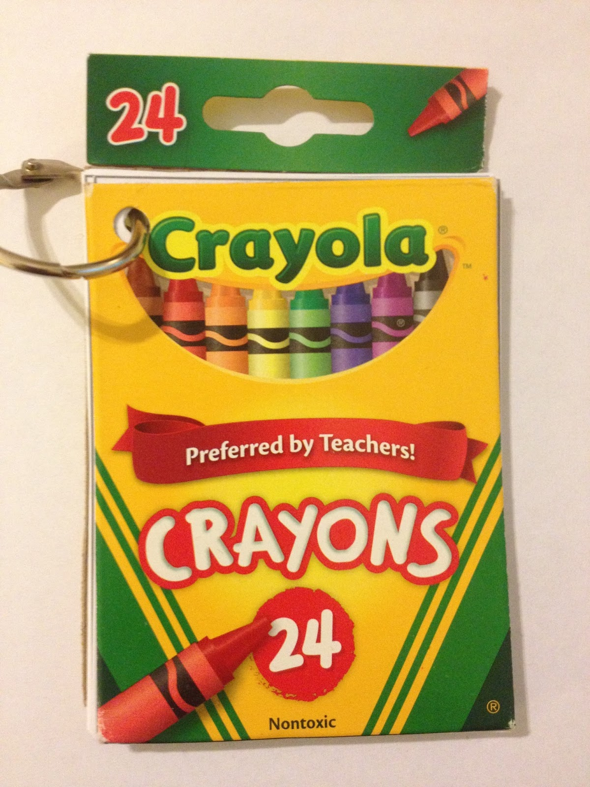 Simply Centers Recyle Crayon Boxes Into Color Words Books