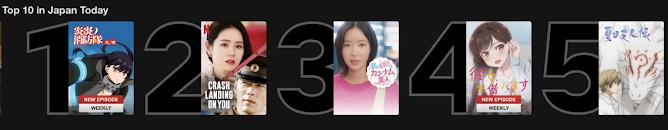 Fire Force y Kanojo, Okarishimasu top 10 Netflix Japón