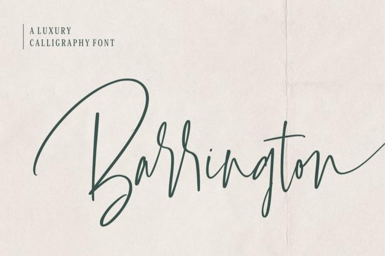 Barrington Font - Free Script Calligraphy Typeface