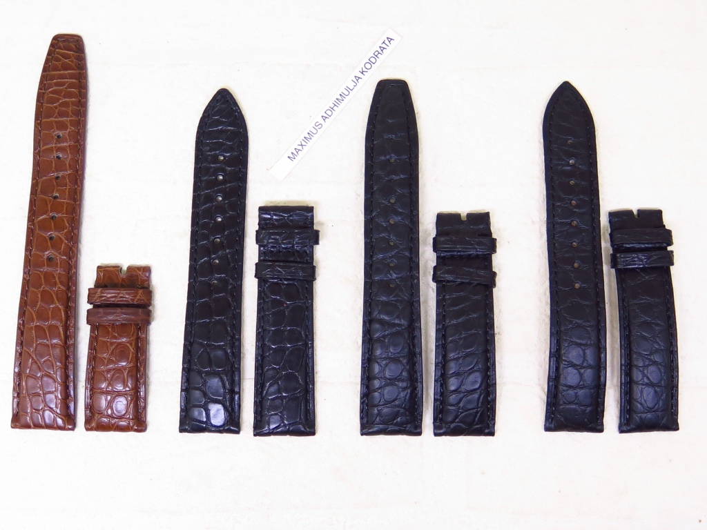 1 - STRAPS GENUINE ALLIGATOR LEATHER STRAP 19 AND 20MM - CODE CA1/4 - CA4/4
