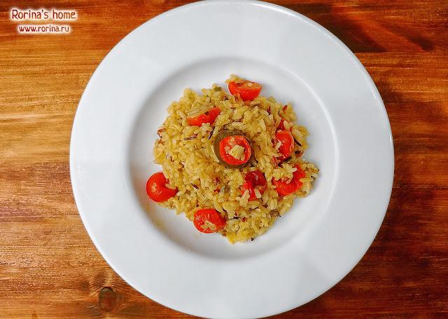 Ризотто с помидорами черри: рецепт с фото