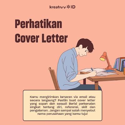 tips melamar pekerjaan Perhatikan Cover Letter