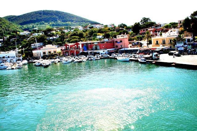 mare, acqua, porto, barche, isola, Ischia, monti, cielo