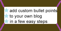 Customize Blogger Bullet Point Style