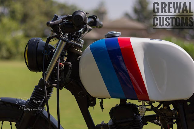 Grewal Customs Bajaj CT100 Brat Style BMW fuel tank