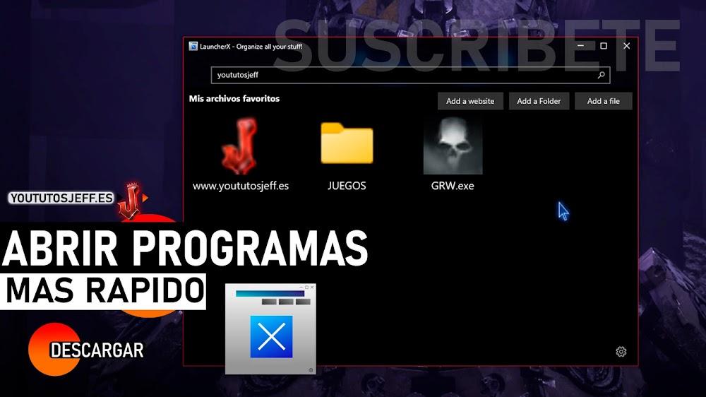 Abrir Programas mas Rápido, Descargar LauncherX para PC