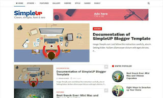 SimpleUP Clean and Fast Blogger Template