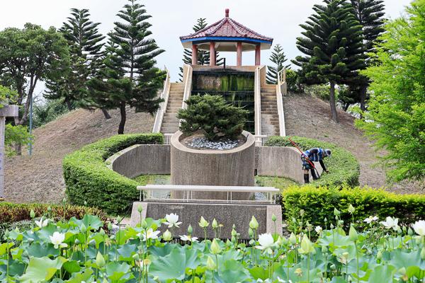 彰化秀水龍騰公園雄偉雙龍搶珠,還有小橋流水荷花池好好拍