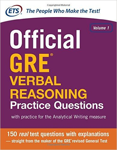 Download Free eBook PDF The Official Guide to the GRE® Verbal Reasoning Practice Questions Vol-1