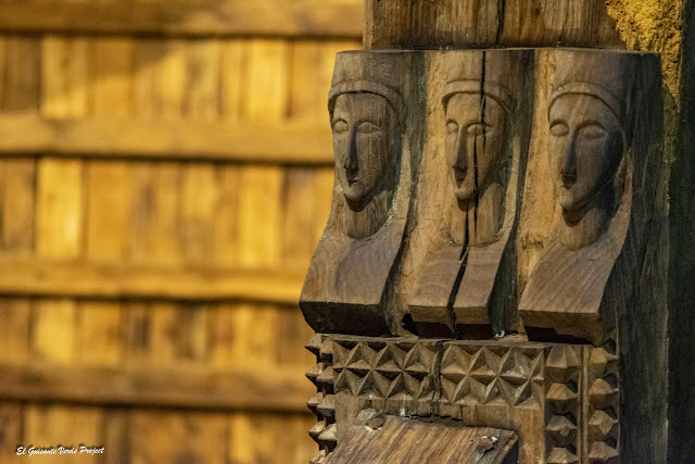 La Antigua, rostros femeninos de las vigas - Zumarraga