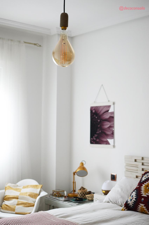 lampara bombilla dormitorio