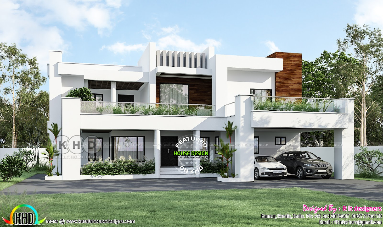 5 Bedroom Contemporary Luxury Home Kerala Home Design Bloglovin,Orange Kitchen Accessories Ideas