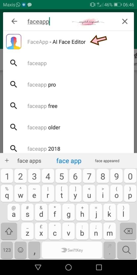 cara guna face app