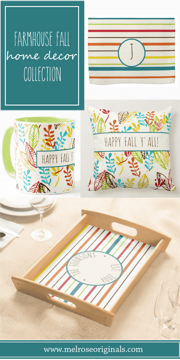 product grid of products from Farmhouse Fall Decor with a Colorful Twist