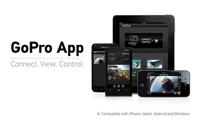 Software pendukung HERO 5 Black tersedia untuk Android, IOS dan Windows