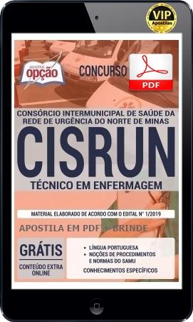 APOSTILA PDF CISRUN 2019 - PARA TÉCNICO EM ENFERMAGEM
