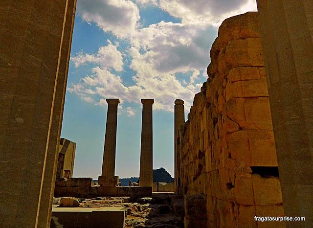 Templo de Atena, na Acrópole de Lindos, na Ilha de Rodes
