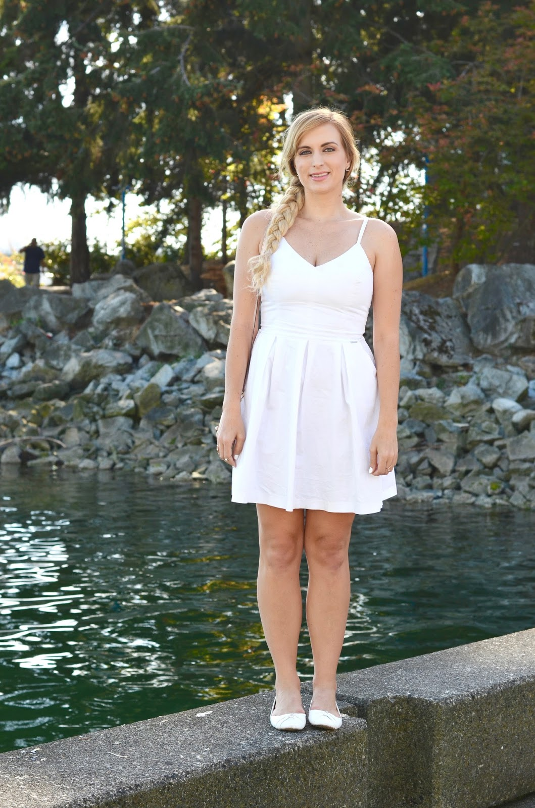 white a line mini dress