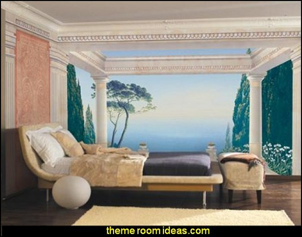 Brewster 4-897 Komar Wall Mural  mythology theme bedrooms - greek theme room - roman theme rooms - angelic heavenly realm theme decorating ideas - Greek Mythology Decorations - heavenly wall murals - asngel wings decor - angel theme bedrooms