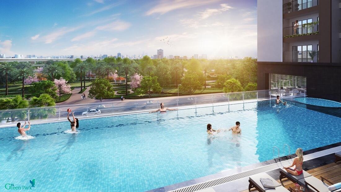 Bể bơi ngoài trời dự án Phương Đông Green Park