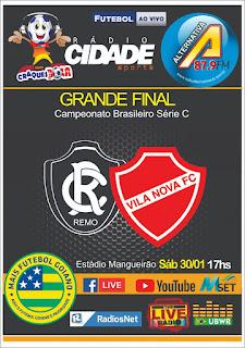 Final entre Remo x Vila Nova terá uma grande cobertura da Rádio Cidade Sports, Alternativa FM e Mais Futebol Goiano