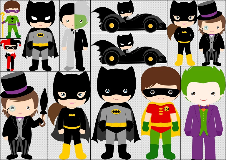 Personajes y villanos de batman ni os kit gratis de for Personajes de batman
