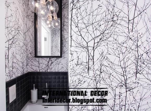 Black And White Wallpaper Unique Design For Modern Interior