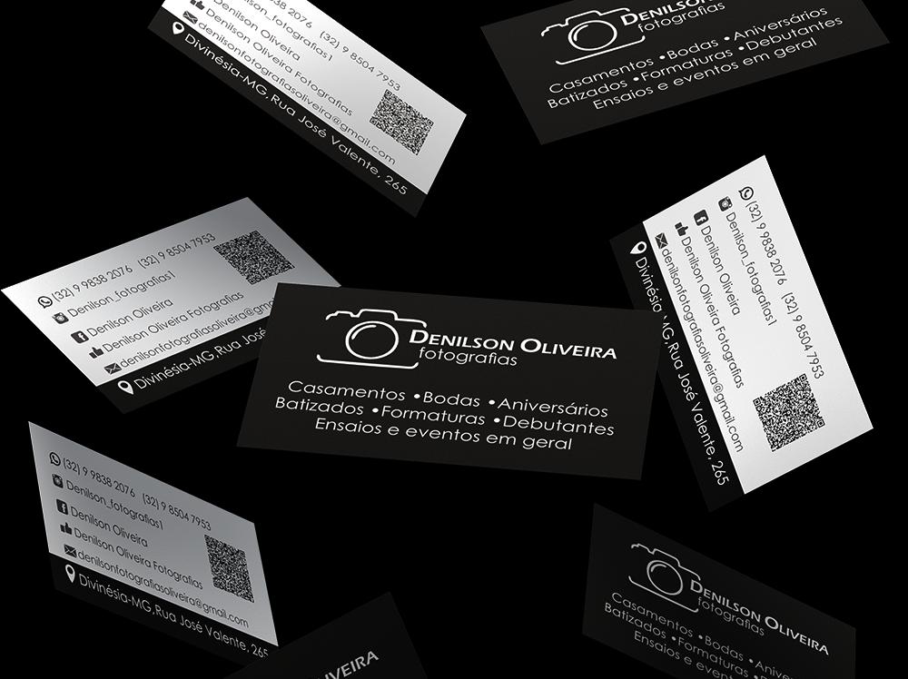 Cartao de visita com QR code Desilson Fotografias