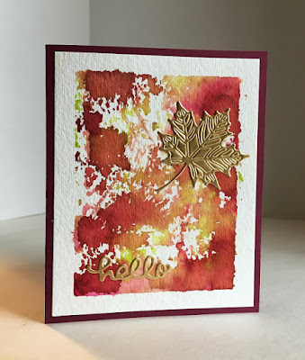 watercolor autumn card diy